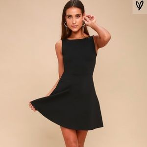 Lulus special kind of love black skater dress